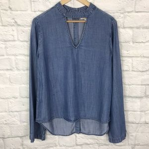Cloth & Stone Small Top Chambray Blue
